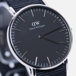Женские наручные часы Daniel Wellington Classic Black Cornwall Silver фото- 2