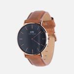 Женские наручные часы Daniel Wellington Classic Black Durham Rose Gold фото- 1