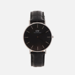 Женские наручные часы Daniel Wellington Classic Black Reading 36mm Silver фото- 0