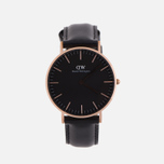 Женские наручные часы Daniel Wellington Classic Black Sheffield Rose Gold фото- 0