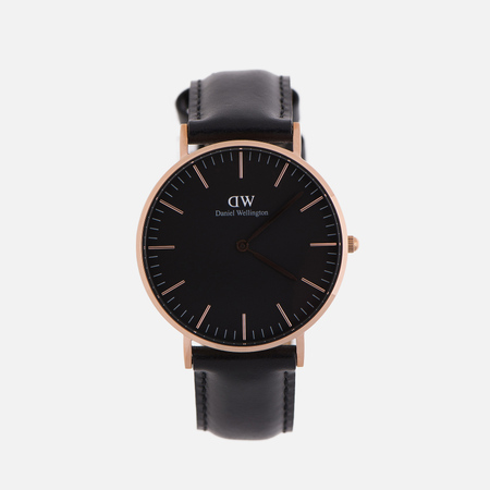 Женские наручные часы Daniel Wellington Classic Black Sheffield Rose Gold