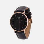 Женские наручные часы Daniel Wellington Classic Black Sheffield Rose Gold фото- 1