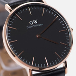 Женские наручные часы Daniel Wellington Classic Black Sheffield Rose Gold фото- 2