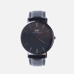 Женские наручные часы Daniel Wellington Classic Black Sheffield Silver фото- 0