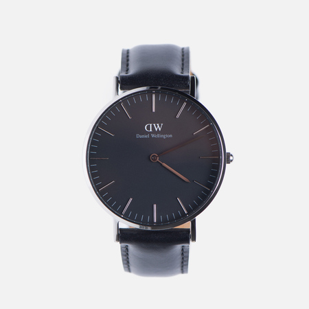 Женские наручные часы Daniel Wellington Classic Black Sheffield Silver
