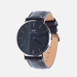 Женские наручные часы Daniel Wellington Classic Black Sheffield Silver фото- 1