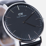 Женские наручные часы Daniel Wellington Classic Black Sheffield Silver фото- 2