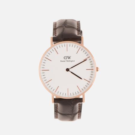Женские наручные часы Daniel Wellington Classic York 36mm White/Rose Gold