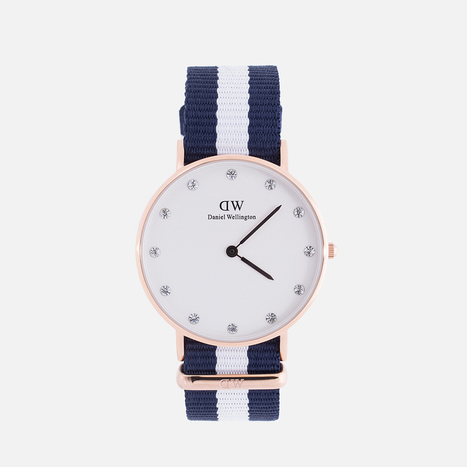 Женские наручные часы Daniel Wellington Classy Glasgow 34 mm Rose Gold
