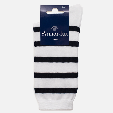 Женские носки Armor-Lux Striped White/Dark Navy