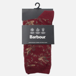 Женские носки Barbour Vintage Bird Merlot фото- 0