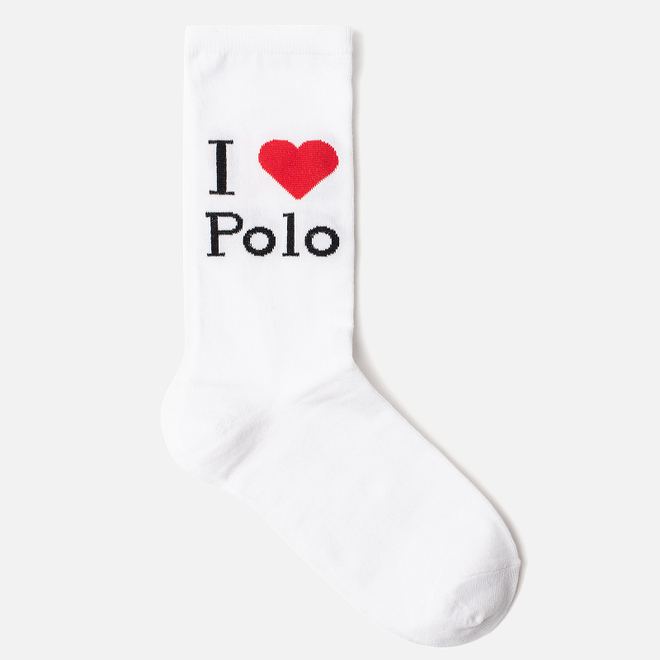 Женские носки Polo Ralph Lauren I Love Polo Single White