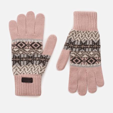Женские перчатки Barbour Tarn Fairisle Pink