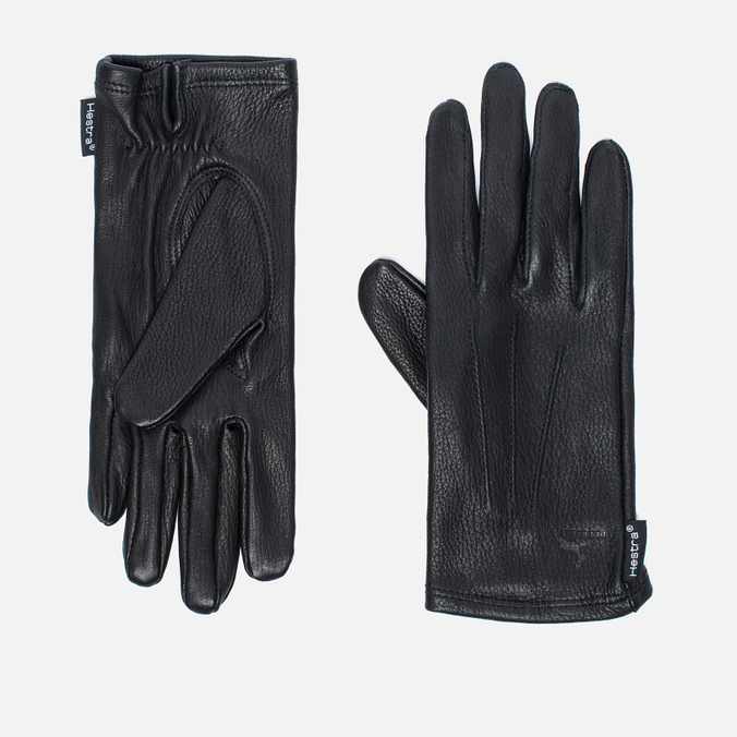 Женские перчатки Hestra Deerskin Silk Lined Black