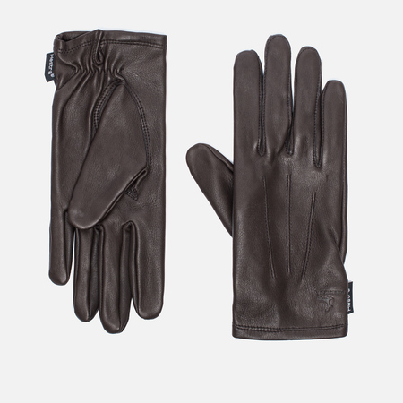 Женские перчатки Hestra Deerskin Silk Lined Dark Brown