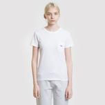 Женская футболка Maison Kitsune Tricolor Fox Patch White фото- 4