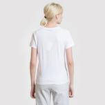 Женская футболка Maison Kitsune Tricolor Fox Patch White фото- 6