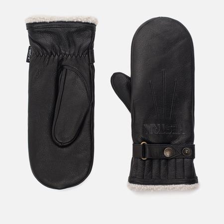 Женские варежки Hestra Leather Lined Black