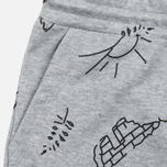 Женские шорты Cahrartt WIP W' Kala Scribble Sweat Grey Heather/Black фото- 1