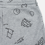 Женские шорты Cahrartt WIP W' Kala Scribble Sweat Grey Heather/Black фото- 3