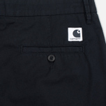 Женские шорты Carhartt WIP W' Vesper Lycra Stretch Twill 6 Oz Black Rinsed фото- 3