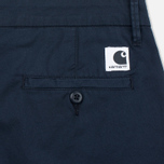 Женские шорты Carhartt WIP W' Vesper Lycra Stretch Twill 6 Oz Duke Blue Rinsed фото- 3