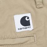 Женские шорты Carhartt WIP W' Vesper Lycra Stretch Twill 6 Oz Safari Rinsed фото- 4