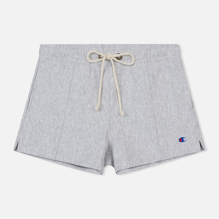 Женские шорты Champion Reverse Weave Embroidered Logo Light Grey