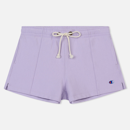 Женские шорты Champion Reverse Weave Embroidered Logo Pastel Lilac