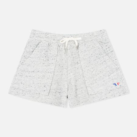 Женские шорты Maison Kitsune Cotton Fleece Grey Melange