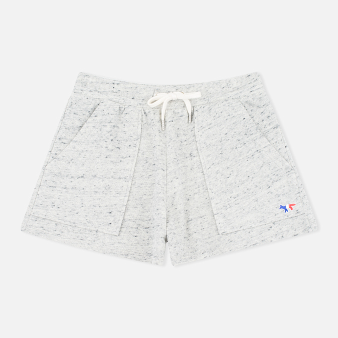 Maison Kitsune Cotton Fleece Women's Shorts Grey Melange