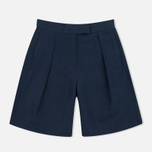 YMC Linen Women's Shorts Full Navy photo- 0