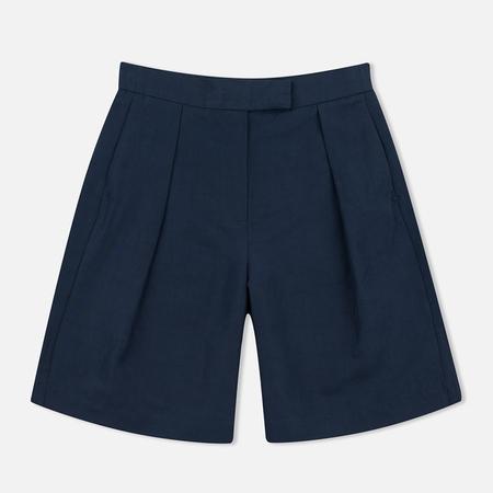 YMC Linen Women's Shorts Full Navy