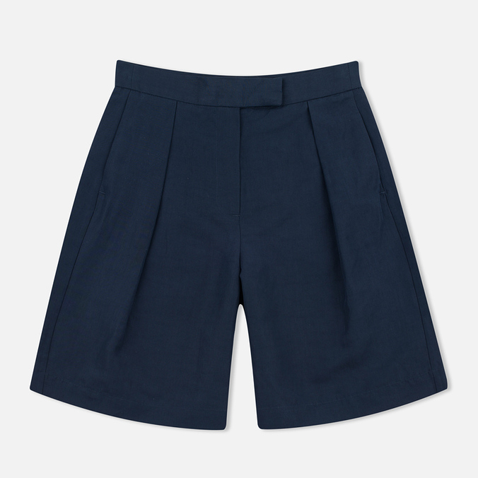 YMC Linen Women's Shorts Full Navy