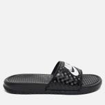 Женские сланцы Nike Benassi JDI Black/White фото- 0