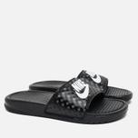Женские сланцы Nike Benassi JDI Black/White фото- 1