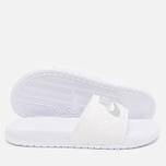 Женские сланцы Nike Benassi JDI Midnight White/Silver фото- 2