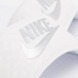 Женские сланцы Nike Benassi JDI Midnight White/Silver фото- 5