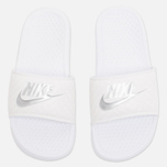Женские сланцы Nike Benassi JDI Midnight White/Silver фото- 4