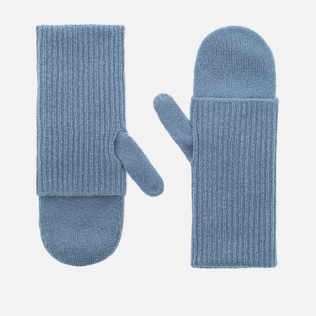 Norse Projects Elise Felt Pale Women's Mittens Blue Melange