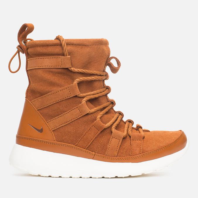 Женские зимние ботинки Nike Roshe One Hi Suede Tawny Lotus