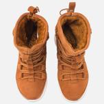 Женские зимние ботинки Nike Roshe One Hi Suede Tawny Lotus фото- 4
