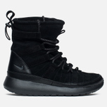 Женские зимние ботинки Nike Roshe One Hi Suede Black Anthracite фото- 0