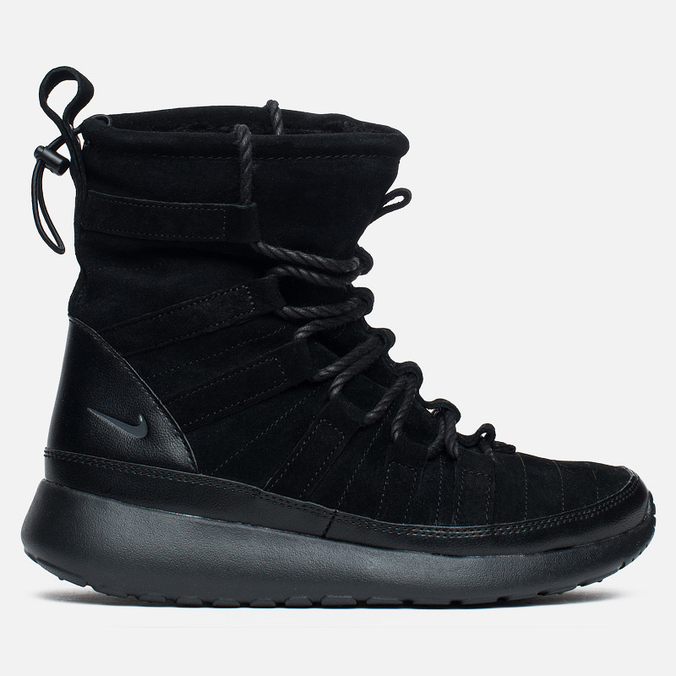 Женские зимние ботинки Nike Roshe One Hi Suede Black Anthracite