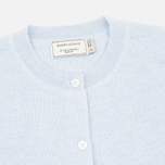 Maison Kitsune Merinos Fancy R-Neck Women's Сardigan Light Blue Melange photo- 1