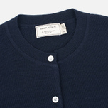 Женский кардиган Maison Kitsune Merinos Fancy R-Neck Navy фото- 1