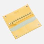 Женский кошелек Ally Capellino Evie Long Zip Leather Yellow/Grey фото- 2