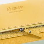 Женский кошелек Ally Capellino Evie Long Zip Leather Yellow/Grey фото- 3