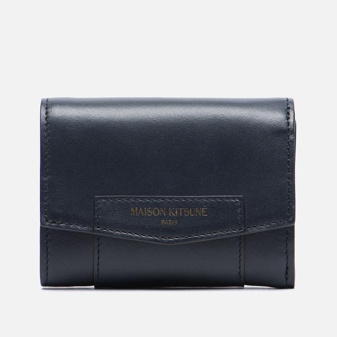 Женский кошелек Maison Kitsune Leather Dark Navy