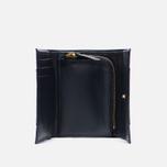 Женский кошелек Maison Kitsune Leather Dark Navy фото- 3